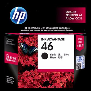 Hp 46 Black Ink Catridge Cz637aa Original Tokopedia
