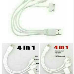 Kabel Cumi 4 Conector Kabel Data Kelabang 4 Conector Hp Tokopedia