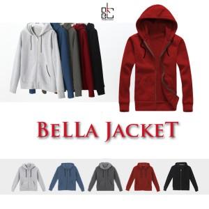 Okechuku Bella Hoodie Pocket Jacket Wanita / Jaket Topi Olahraga
