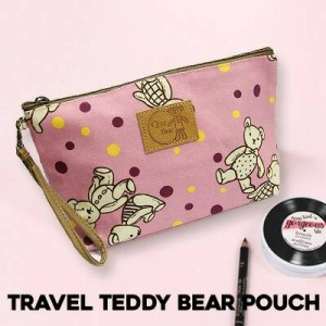 Ydx008 Travel Teddybear Pouch Tas Kosmetik Tas Travel Tas Makeup Tokopedia