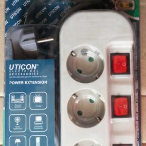 Stop Kontak Uticon 3 Lubang 3 Switch ST-1382 SW