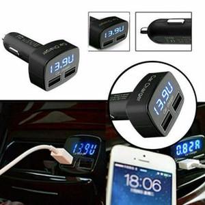 Car Charger Mobil Usb Alat Ukur Tegangan Aki Charger Mobil Charger Hp Tokopedia