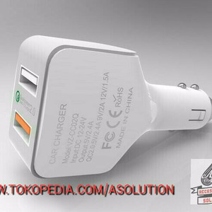 Harga Spesial Car Charger Vizz Cc02q Qualcomm 2 0 Support Fast Charging 2 4a Port Tokopedia