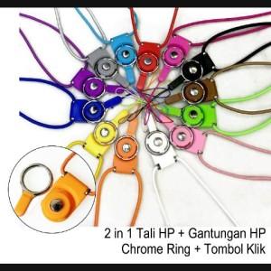 Tali Hp Gantungan Hp Full Chrome Ring Tombol Klik Tali Gantungan Hp Strap Gantungan Hp Tokopedia