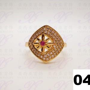 Jual Yaxiya (anting kalung gelang) cincin permata perhiasan imitasi gold18k