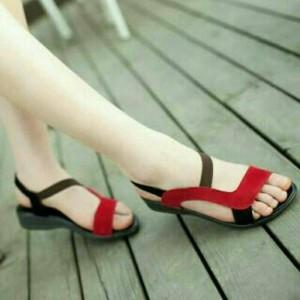 Sepatu Sandal Flat Shoes Wanita Bl65 Tokopedia