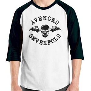 Kaos Baju Distro Avenged Sevenfold Desain Vengeance University Hitam Tokopedia