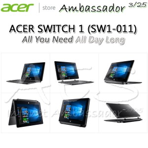 Acer Switch One Sw1 011 10c4 Gray Windows 10 Tokopedia