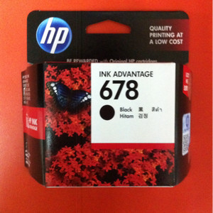 Tinta Hp 678 Hitam Original Tokopedia