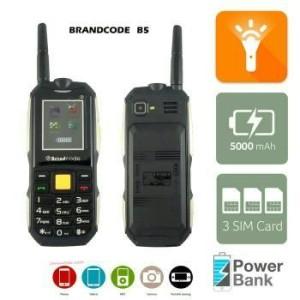 Brandcode B5 Slim 3 Sim Hp Bisa Powerbank 5 000mah Garansi Resmi 1 Th Tokopedia