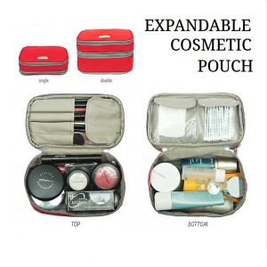 Expandable Cosmetics Pouch Ecp Red Dompet Kosmetik Tokopedia