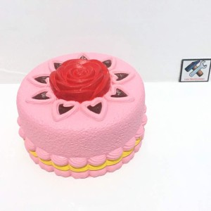 MAINAN SQUISHY KUE TART KIIBRU ROSE CAKE ORIGINAL WARRANTY WANGI