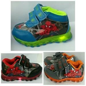 Sepatu Anak Spiderman Import Led Lampu Murah Sepatu Anak Laki Sepatu Anak Karakter Sepatu Sekolah Tokopedia