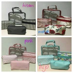Tas Kosmetik 4 In 1 Beauty Case Kosmetik Organizer Tas Travel Sl0611 Tokopedia