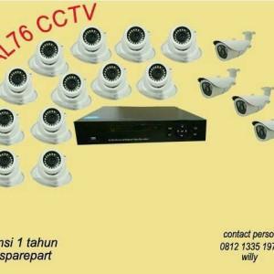 PAKET CCTV 16 CHANNEL AHD 3MP LENGKAP TINGGAL PASANG