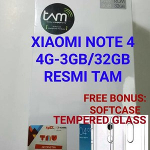 Xiaomi Redmi Note 4 3gb 32gb Black Garansi Resmi Tam Tokopedia