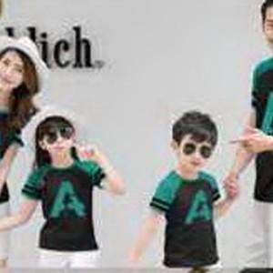 Baju Family Couple / Kaos Pasangan Keluarga 2 anak Lp A 10740