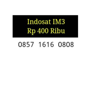 Jual Kartu Perdana Indosat Im3 Nomor Super Cantik Seri ABAB CDCD CL5