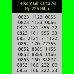 Jual Nomor Cantik Telkomsel As double Aa seri terbaru/rapih/mudah di hapal