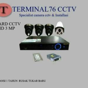 PAKET CCTV AHD 3MP SGUARD 4 CHANNEL FULL HD LENGKAP TINGGAL PASANG