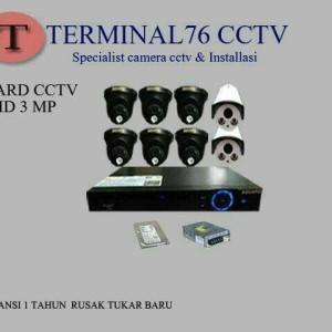 mi PAKET CCTV AHD 3MP SGUARD 8 CHANNEL FULL HD LENGKAP TINGGAL PASANG