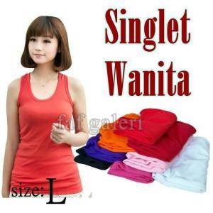 Baju Dalaman Singlet Wanita Size L Tokopedia