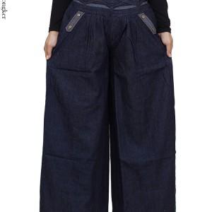 Celana Kulot Panjang Jeans Polos Tokopedia