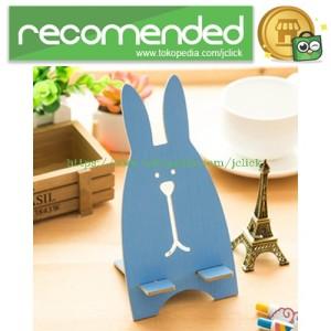 Terbaru Wooden Smartphone Holder Blue Tokopedia
