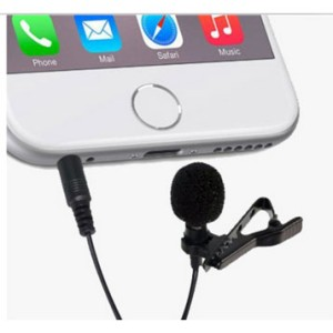 Mic Microphone Clip On Hp Smartphone Pc Laptop 3 5mm Tokopedia
