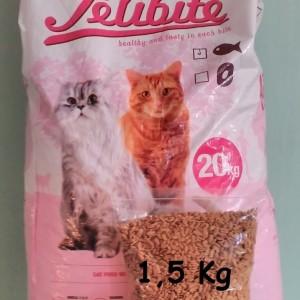 Jual Makanan Kucing / Cat Food FELIBITE REPACK 1,5 KG IKAN