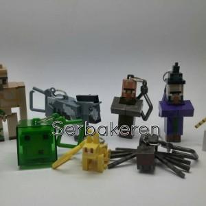 Gantungan Kunci / Hanger Minecraft seri 3 set isi 10