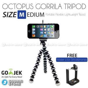 Tripod Hp Smartphone Holder U Pocket Camera Dslr Action Camera Canon Nikkon Sony Samsung Xiaomi Yi Action Tokopedia