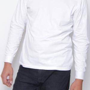 Jual Kaos86 Kaos Polos O-Neck Lengan Panjang 20S - Putih Size XXL