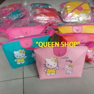 Termurah Hello Kitty Tas Kosmetik Hello Kitty Bordir Plus Tali Termurah Tokopedia
