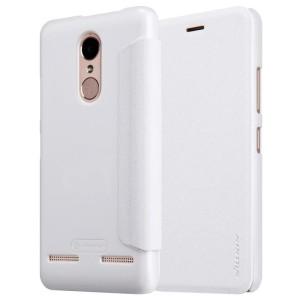 Jual Nillkin Sparkle Series New Leather case Lenovo K6 Power - Putih