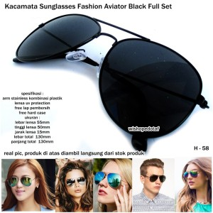 KACAMATA PRIA SUNGLASSES RB SPACE AVIATOR FULL BLACK