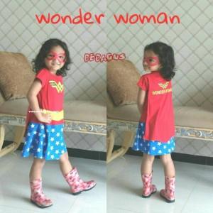 Baju Anak Kostum Perempuan Wonder Woman Tokopedia