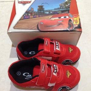 Sepatu Anak Laki Laki Cars Hitam Merah Tempel Tokopedia