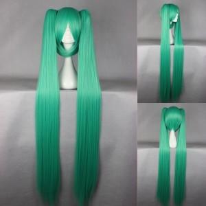 Wig MCoser Green / Hijau 130 cm 072H - Vocaloid - Hatsune Miku