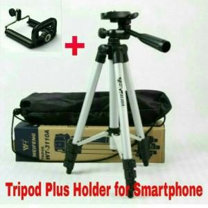 Tripod Weifeng Plus Holder Universal Untuk Smartphone Tokopedia