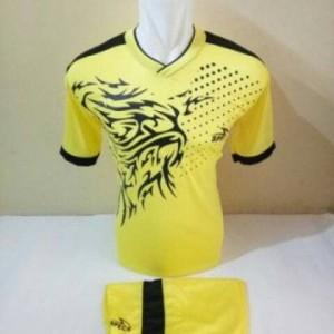 Jual setelan olahraga kaos bola jersey futsal baju volly spc fire kuning