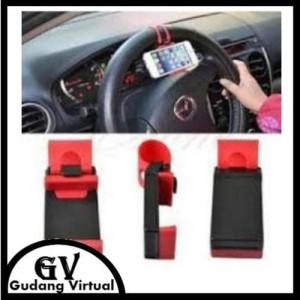 Pegangan Hp Mobil Universal Steering Wheel Car Clip Hp Holder Tokopedia