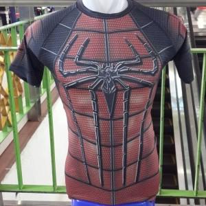 Kaos Baju Pria Spiderman Superhero Gym Fitness Fitnes Compression 3d Running Tokopedia