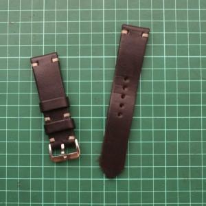 Dark Brown Edge Stitch Leather Watch Strap Tali Jam Kulit Keren Bro Classic Tokopedia