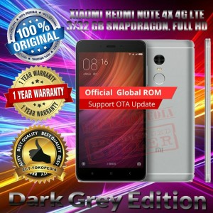 Xiaomi Redmi Note 4x Grey 3 32 Gb Garansi Distributor 1 Tahun Tokopedia