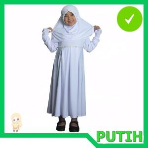 Baju Muslim Gamis Anak Putih Tokopedia