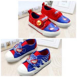 Sepatu Anak Laki Laki Spiderman Webheads Hitam Merah Tokopedia