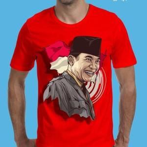 Jual kaos pria t shirt 3d tokoh pahlawan bung karno hitam distro murah 27776a7f3c