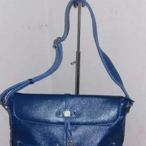 Jual tas kulit asli papillon tali panjang warna biru elektrik atau benhurrr 10fb826811