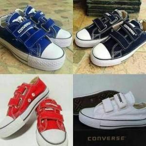 Converse Anak Model Perekat Sepatu Sekolah Santai Tokopedia